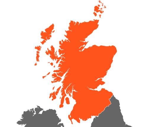 Scotland - Vector map